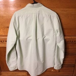 Ralph Lauren Shirts - Ralph Lauren Green & White Striped Button Down